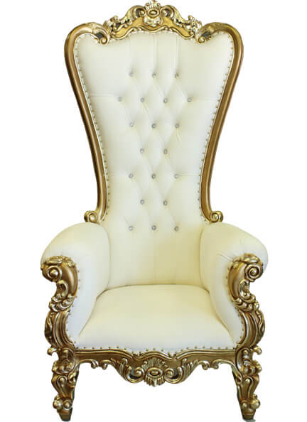 Gold Throne Chair Pair | Uniquely Chic Vintage