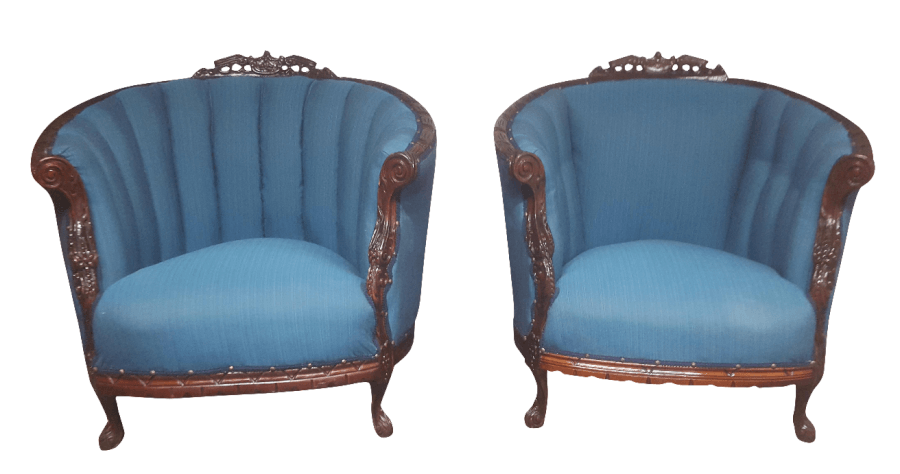 Mahogany & Blue Pair