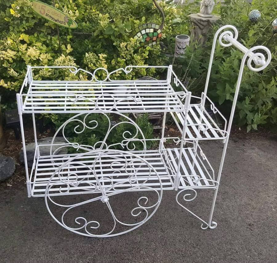 Vintage White Cart | Uniquely Chic Vintage