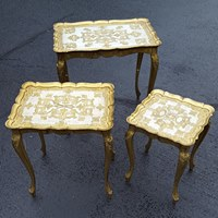 Gold Italian Nesting Tables | Uniquely Chic Vintage