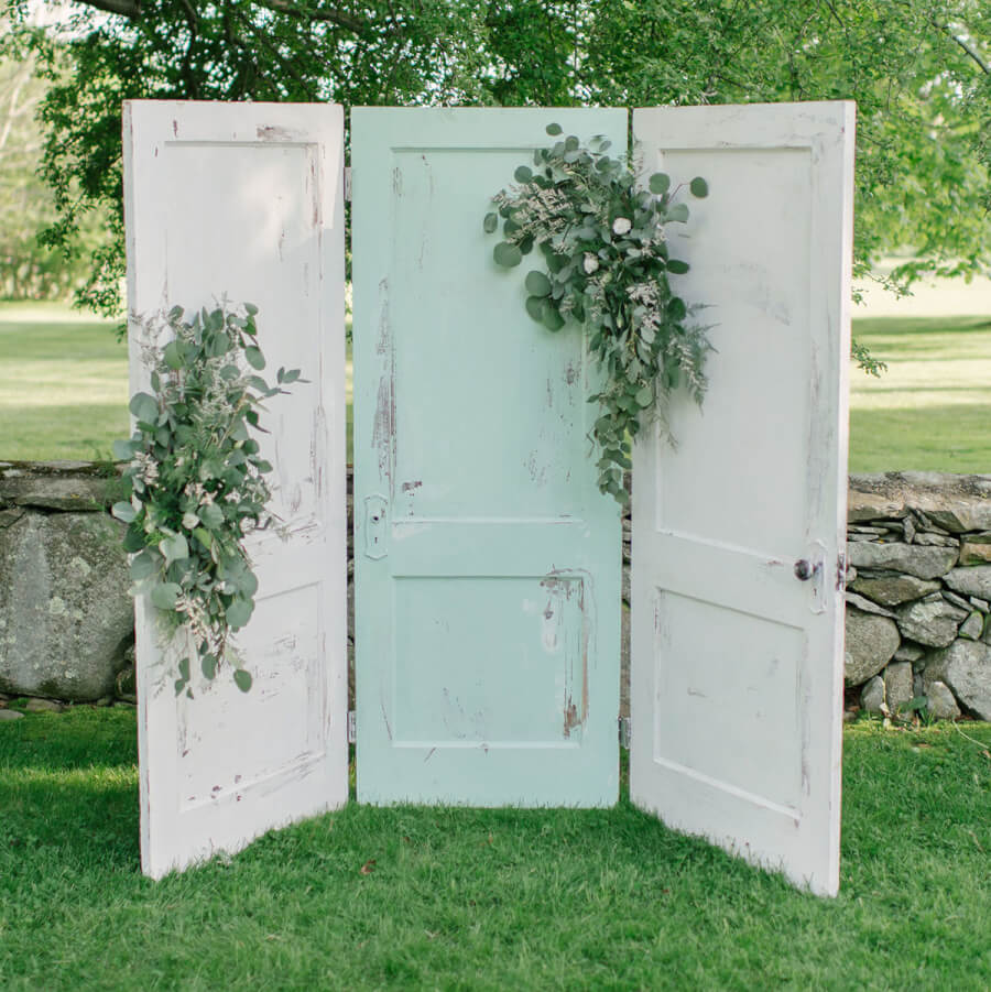 Three Door Rustic Backdrop | Uniquely Chic Vintage Rentals