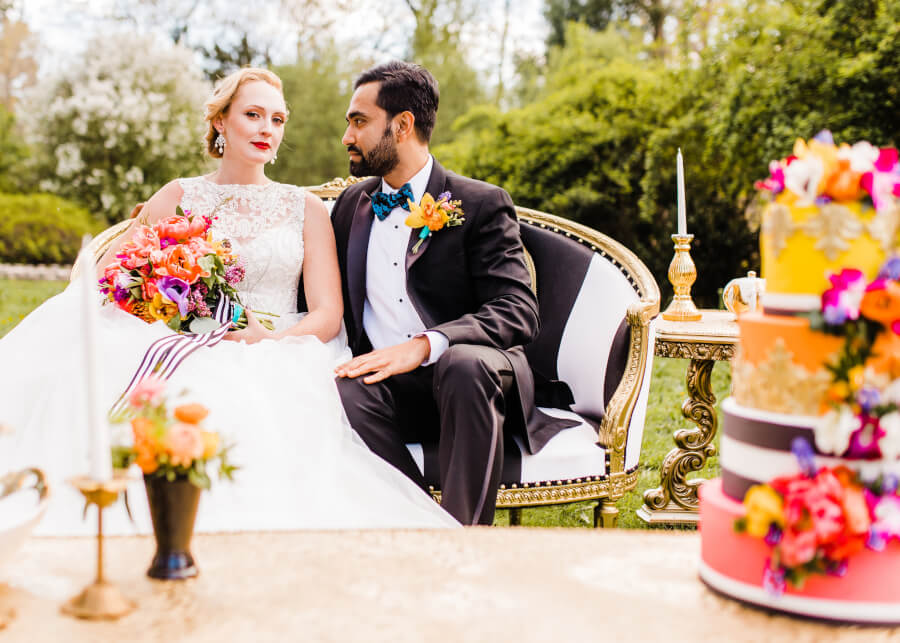 Photo Credit: Massart Photography Florals: Michelle Jeanne Floral Design HMU: M.A.W. Beauty Bridal: Spark Bridal Outlet Jewelry: Perception Jewelry Groom: Anthony's House of Formals Cake: Christine Doucette Venue: Slater Park, RI Model: Erin Powers, Rajiv Roy