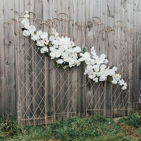 White Flower Trellis | Uniquely Chic Vintage Rentals