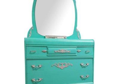 Aqua Mirrored Dresser