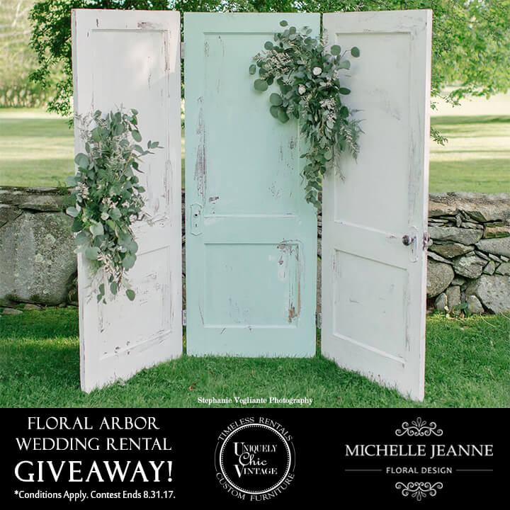 Three Door Arbor & Floral Arbor Wedding Rental Giveaway! | Uniquely Chic Vintage pezcame.com