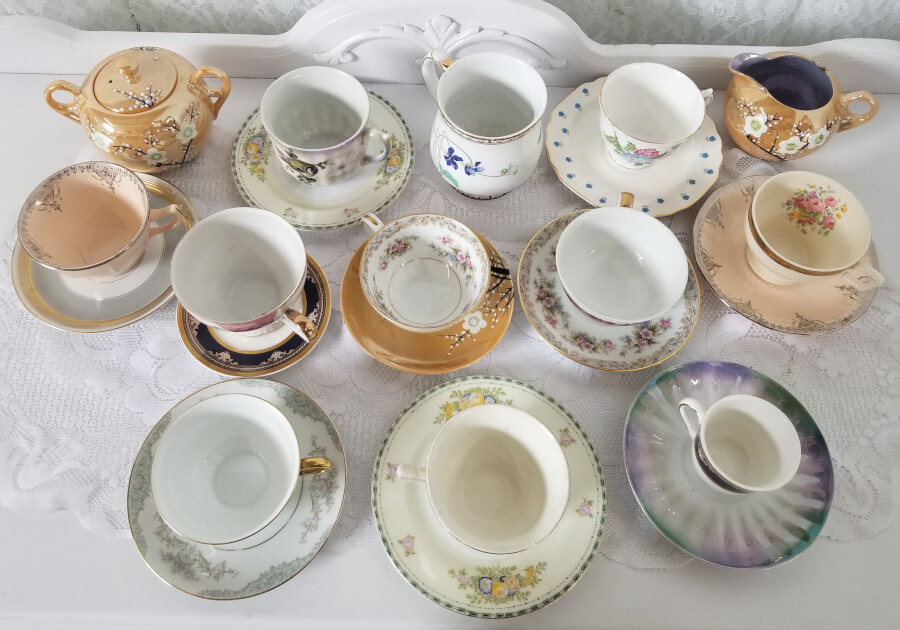 Mix & Match Vintage China Tea Sets | Uniquely Chic Vintage Rentals