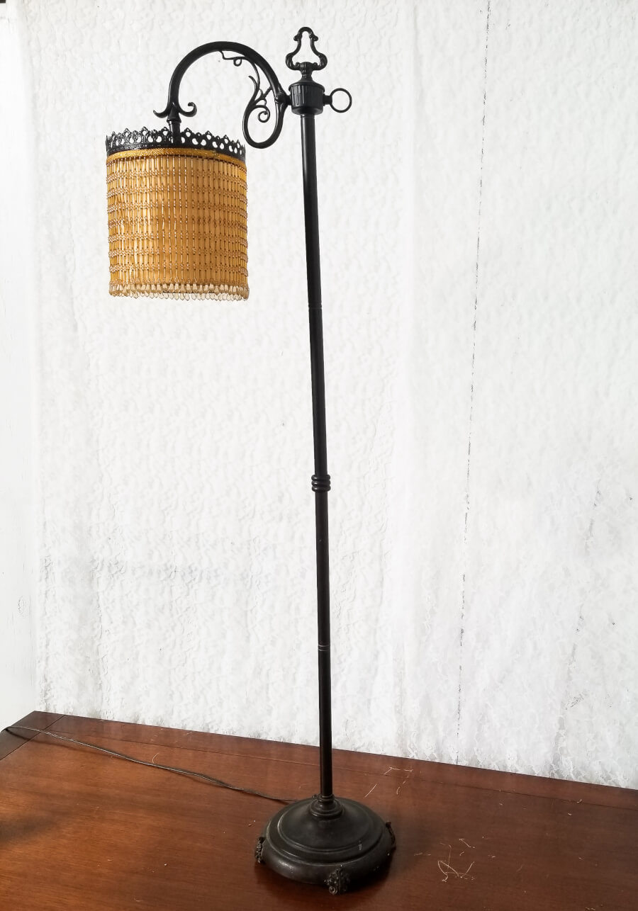 Art Deco Beaded Floor Lamp | Uniquely Chic Vintage Rentals