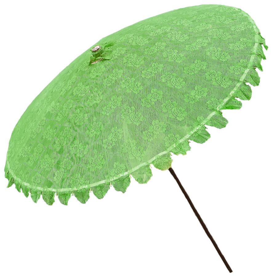 Large Green Lace Parasol | Uniquely Chic Vintage Rentals