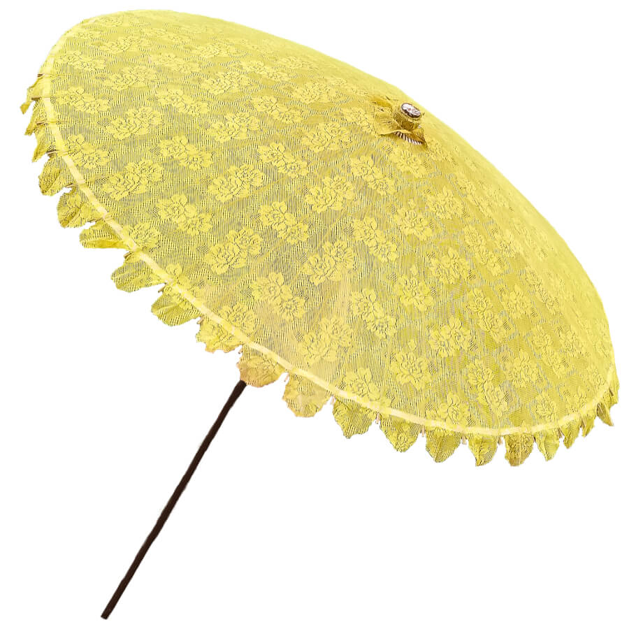 Large Yellow Lace Parasol | Uniquely Chic Vintage Rentals