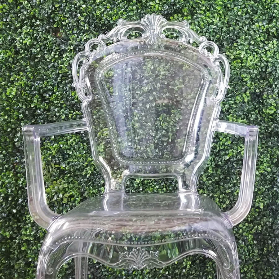 Victorian Lucite Ghost Chairs (close) | Uniquely Chic Vintage Rentals