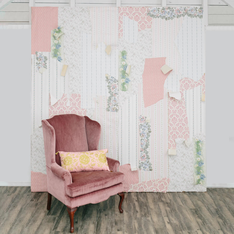 Romantic Wallpaper Backdrop | Uniquely Chic Vintage Rentals