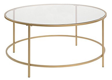 Round Glass Coffee Table | Uniquely Chic Vintage Rentals