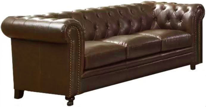 Brown Leather Sofa | Uniquely Chic Vintage Rentals
