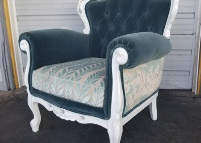 Teal and White Patterned