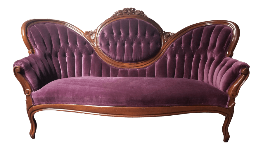 Antique Plum Settee | Uniquely Chic Vintage Rentals