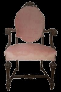 Victorian Pink Velvet Armchair | Uniquely Chic Vintage Rentals