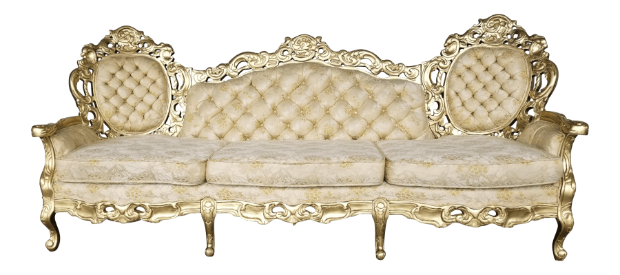 Baroque Cream U0026 Gold Tufted Sofa