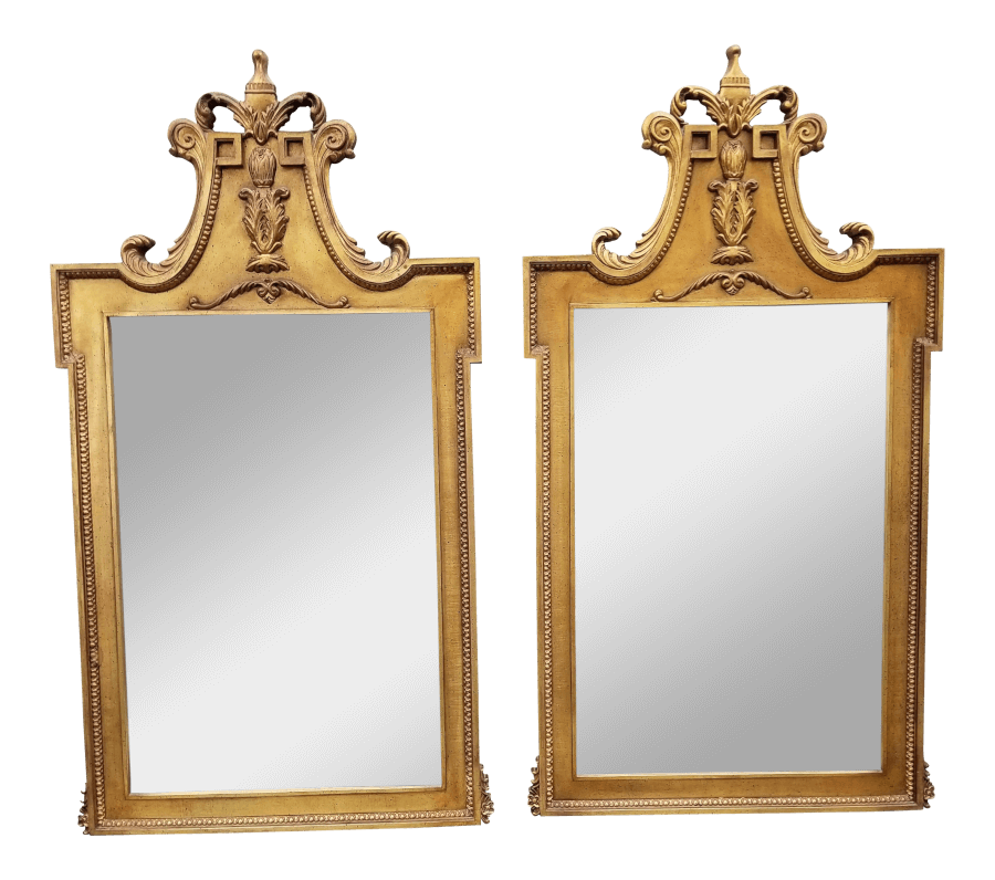 Large Gilded Mirrors (Pair) | Uniquely Chic Vintage Rentals