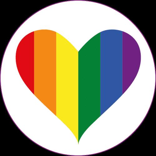 rainbow pride heart