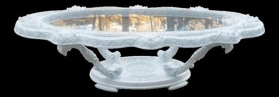 Victorian Pearl Coffee Table | Uniquely Chic Vintage Rentals