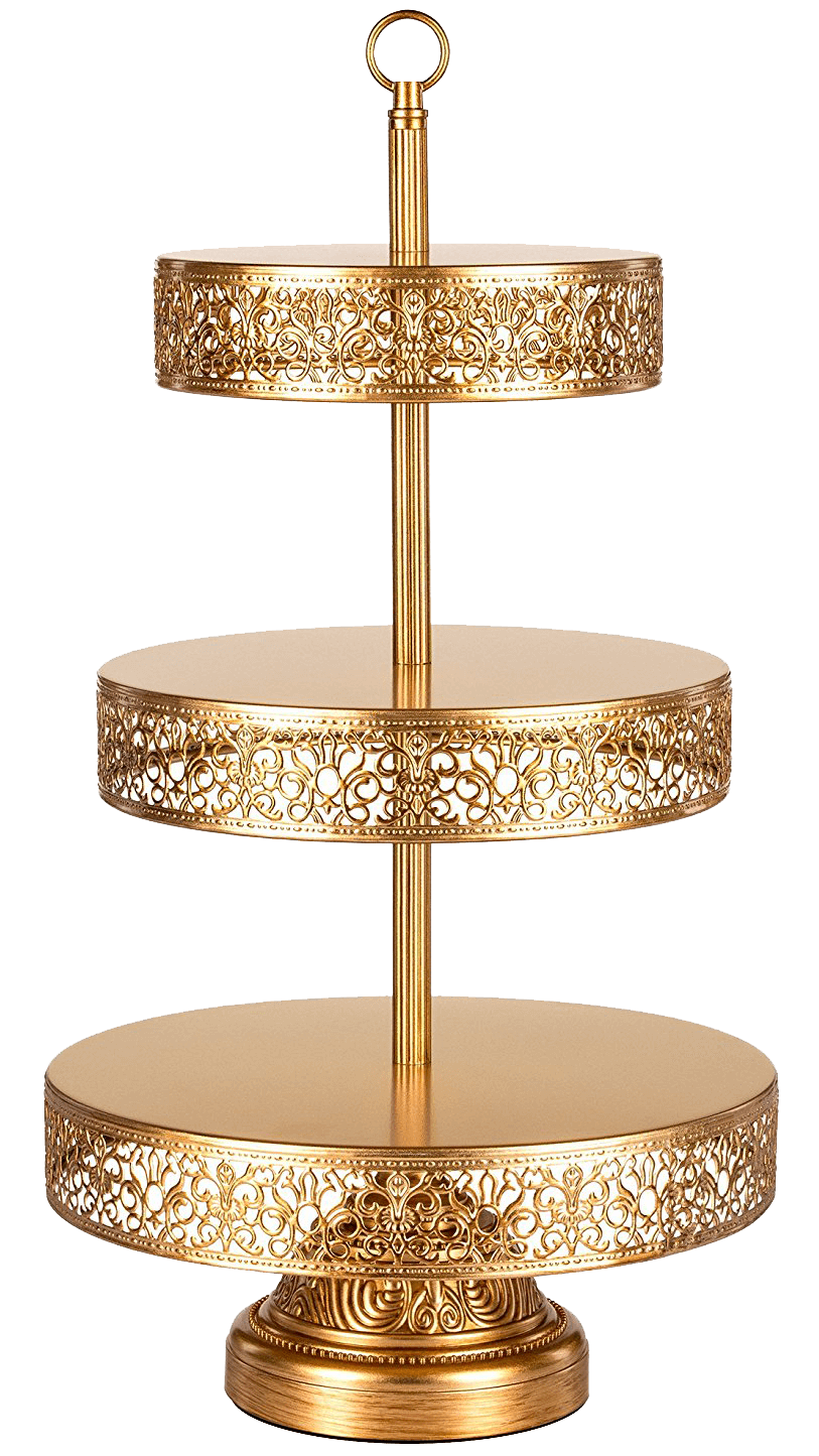 Gold Filigree Tiered Dessert Stand | Uniquely Chic Vintage Rentals