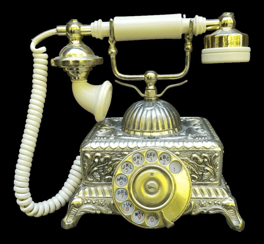 Victorian Gold Telephone | Uniquely Chic Vintage Rentals