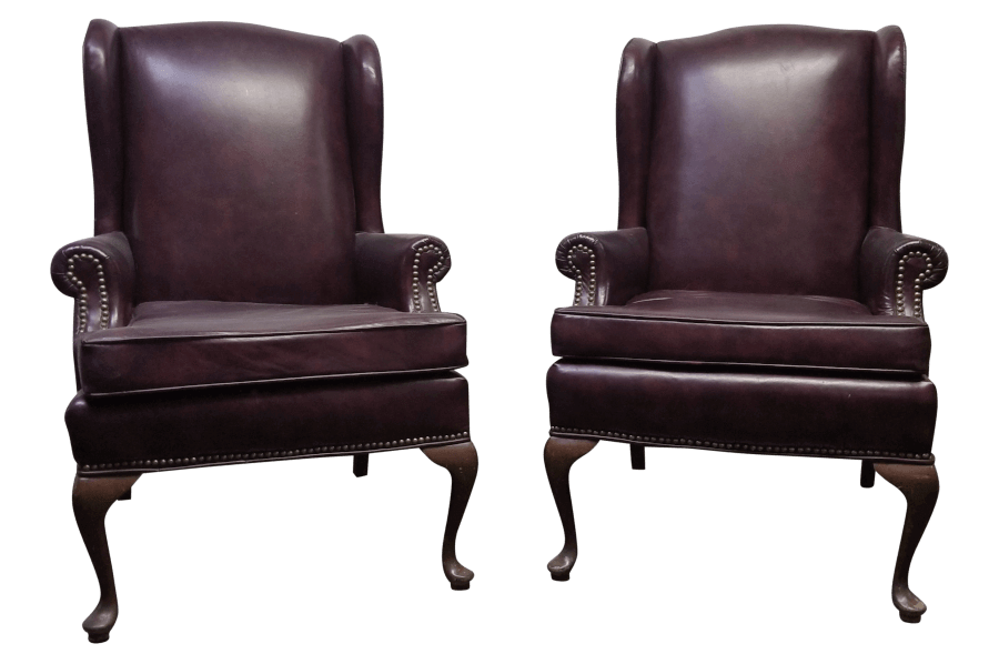 Brown Leather Chairs | Uniquely Chic Vintage Rentals