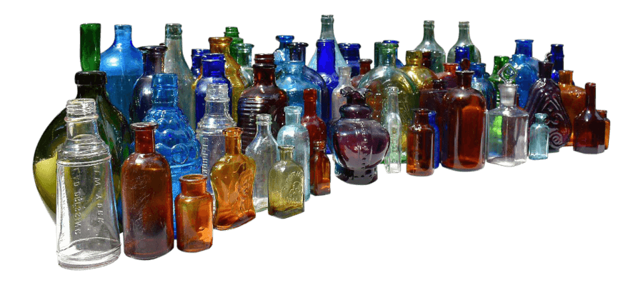 Colorful Apothecary Bottles | Uniquely Chic Vintage Rentals