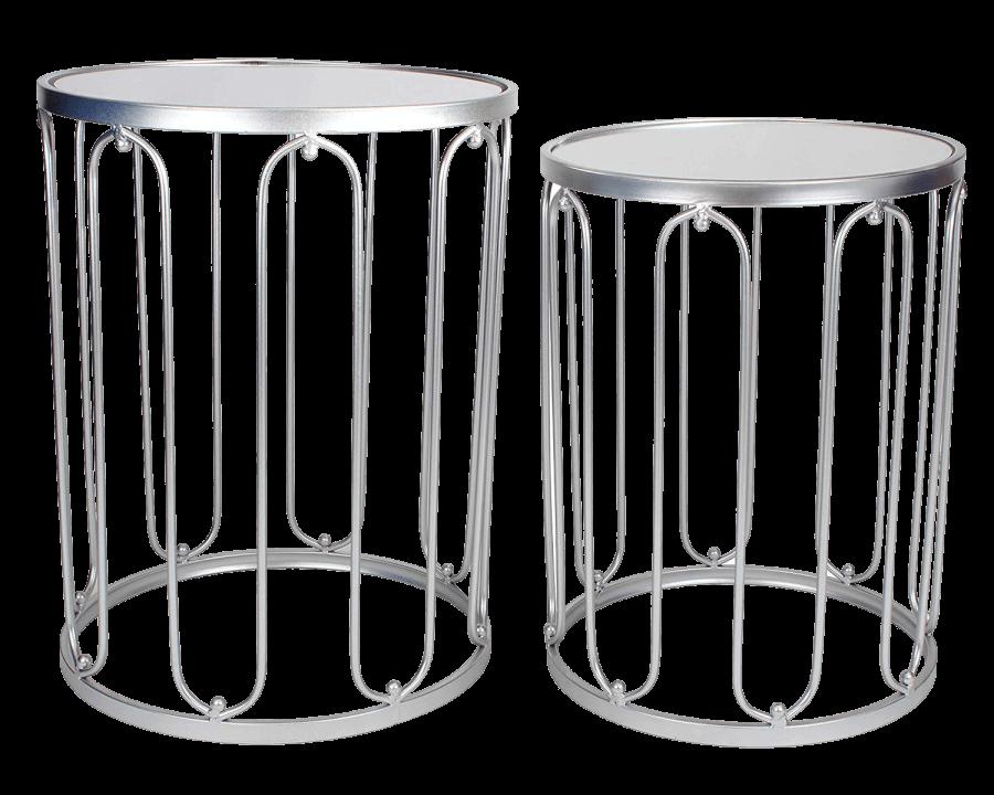Silver Round End Tables | Uniquely Chic Vintage Rentals