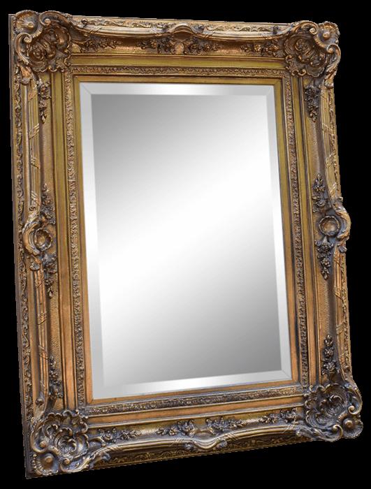 Ornate Gilt Wood Gold Mirror   Uniquely Chic Vintage Rentals